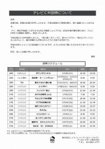 Microsoft PowerPoint - 1220全国【テレビCM】番組提供スケジュールについて